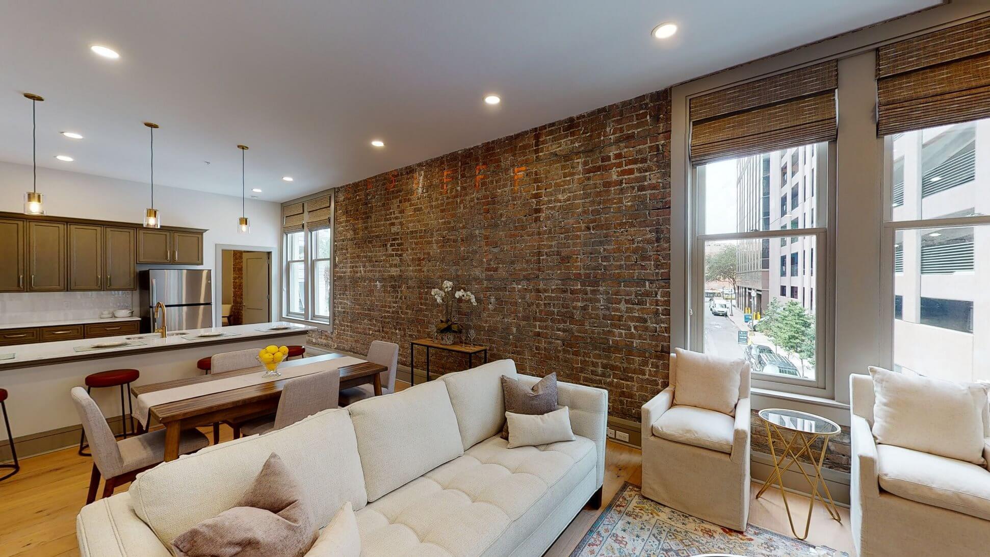 353 Baronne living area
