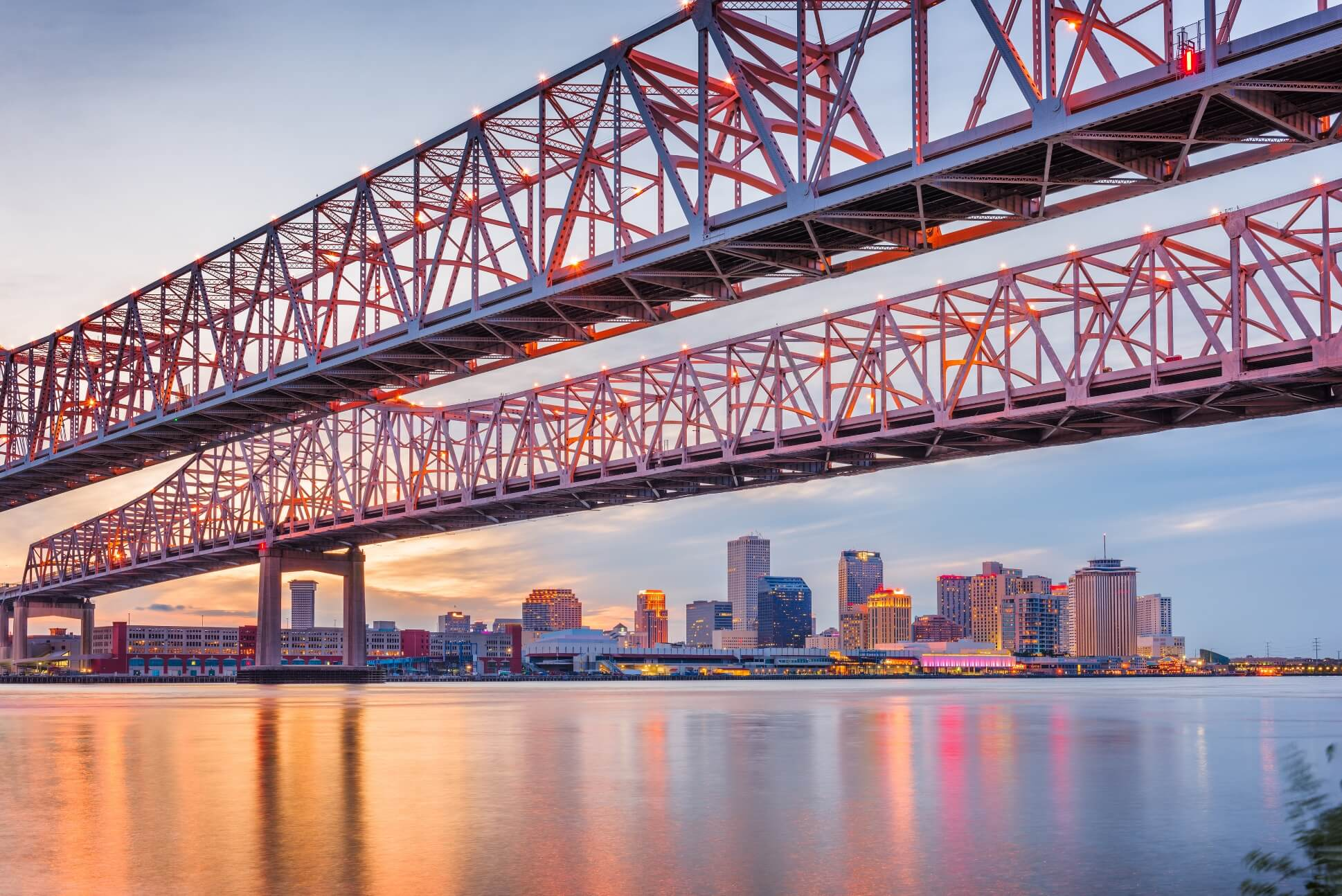 Crescent City Connection bridge in New Orleans